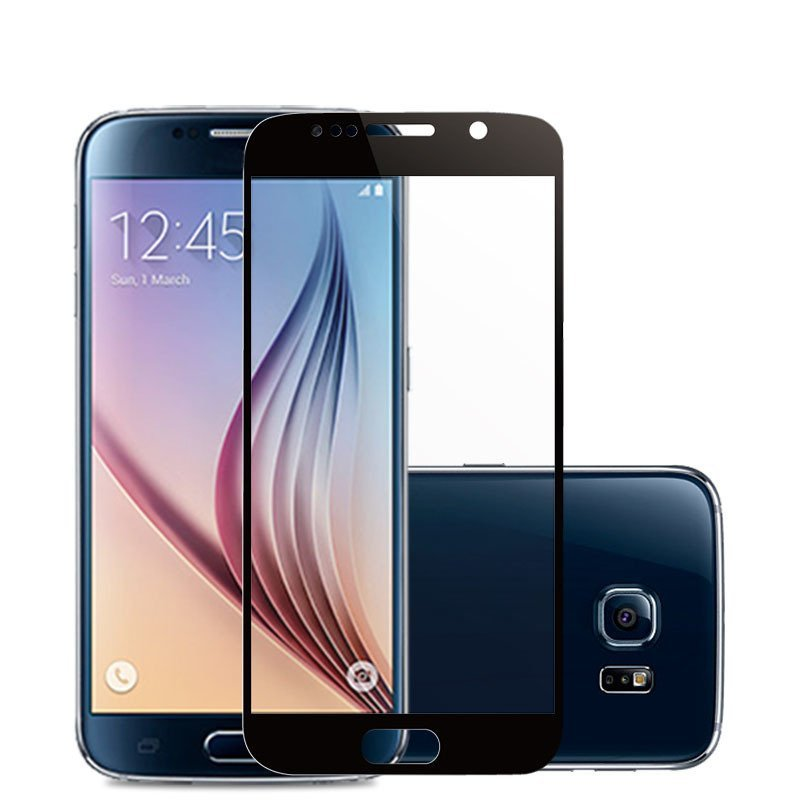 Full Coverage Tempered Glass Screen Protector Film for Samsung Galaxy S6 G920 (Black) (Intl)