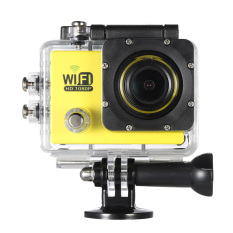 """Full HD Wifi Action Sports Camera DV Cam 2.0"""" LCD 12MP 1080P 30FPS 4X Zoom 140 Degree Wide Lens Waterproof for Car DVR FPV PC Camera Diving Bicycle (Yellow) - Intl"""