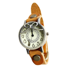 Functional Long-haired Girl Retro Leather Embossed Leather Watch Ladies Bracelet Watch Watch