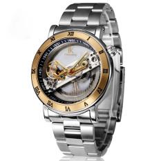 Fuskm IK Apa Qi Automatic Mechanical Watch Male Table Double-sided Hollow Men's Waterproof Watch 98399MS (Gold)