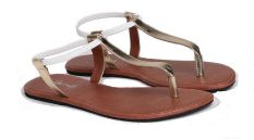 GeeArsy ABP 7244 S Sandal Flat Casual Wanita Synthetic Bagus (Silver)