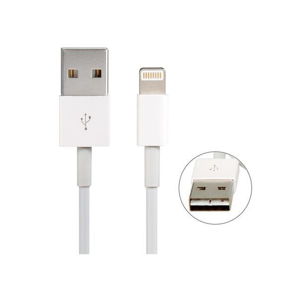 Generic 1M 8 Pin to USB Charging Data Cable for iPhone 6/5S/5C/5 White