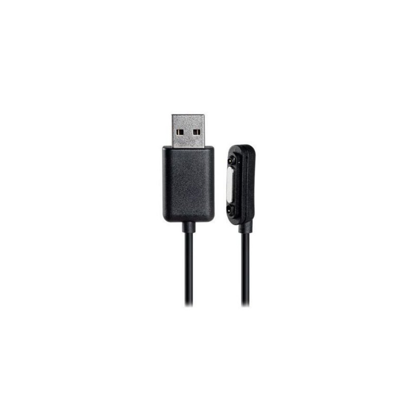 Generic 1m Magnetic USB Charging Data Cable for Sony Xperia (Black)