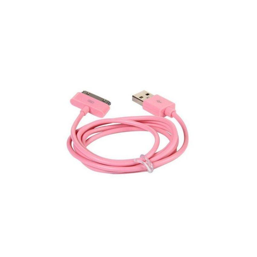 Generic 1m USB 2.0 Cable for iPad / iPad 2 / iPhone / iPod Pink