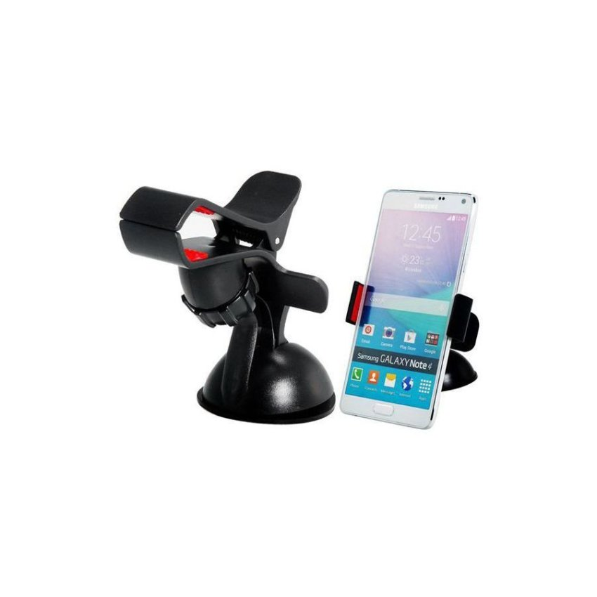 Generic 360 Degrees Rotating Car Mount Holder for Mobile Phone GPS Navigation Tablet PC (Black)