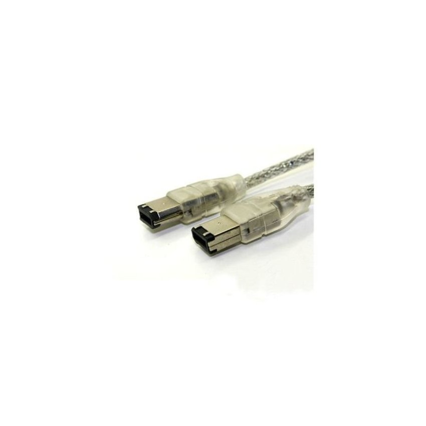Generic 6 to 6 Pin IEEE 1394 Firewire Cable (Silver)