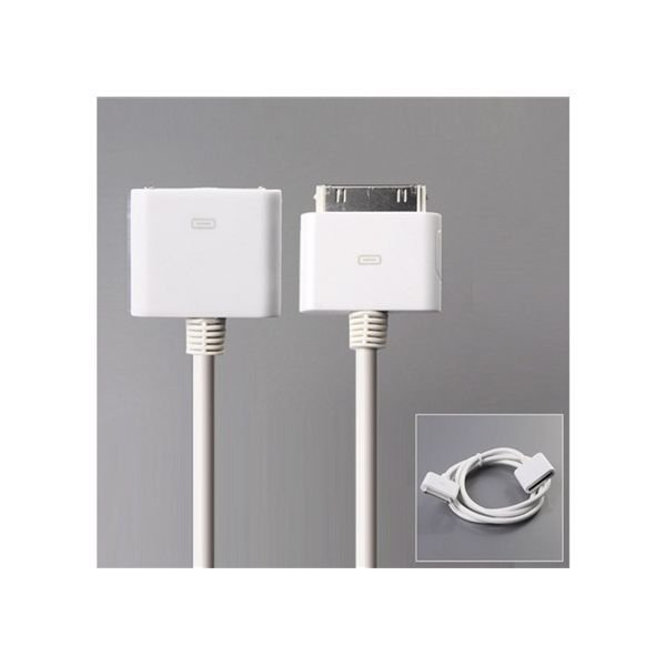 Generic Female to Male Extension Data Cable for iPhone 4G/3G/3GS/iPod Touch/iPod Nano (White)