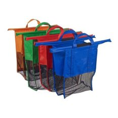 Generic IMPORT ORIGINAL 1 Set Trolley Bag dengan Jaring - Kantong Belanja 4 Pcs