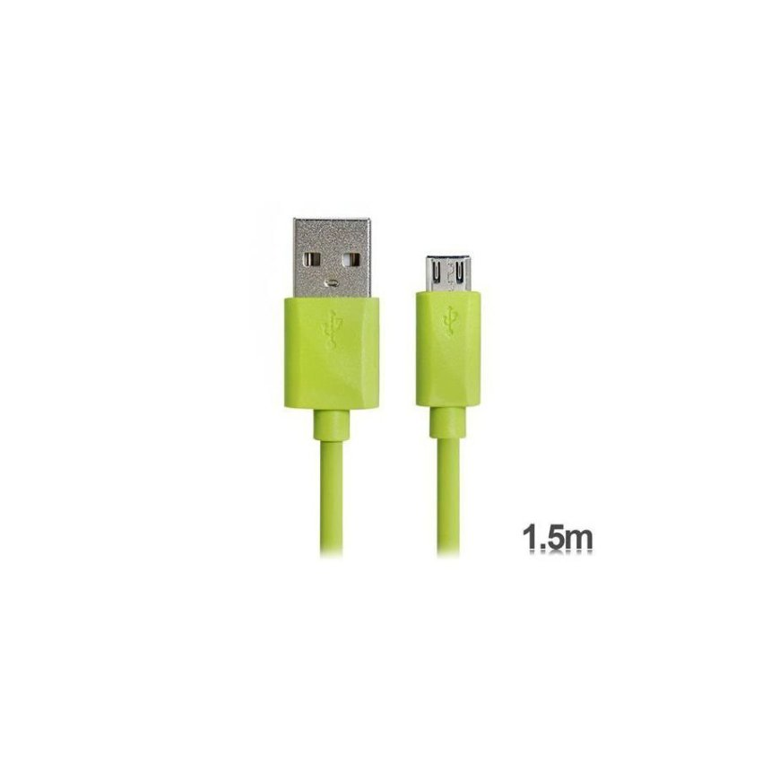 Generic KS U31 1.5 m Micro USB Charging Data Cable for Samsung V8 (Green)