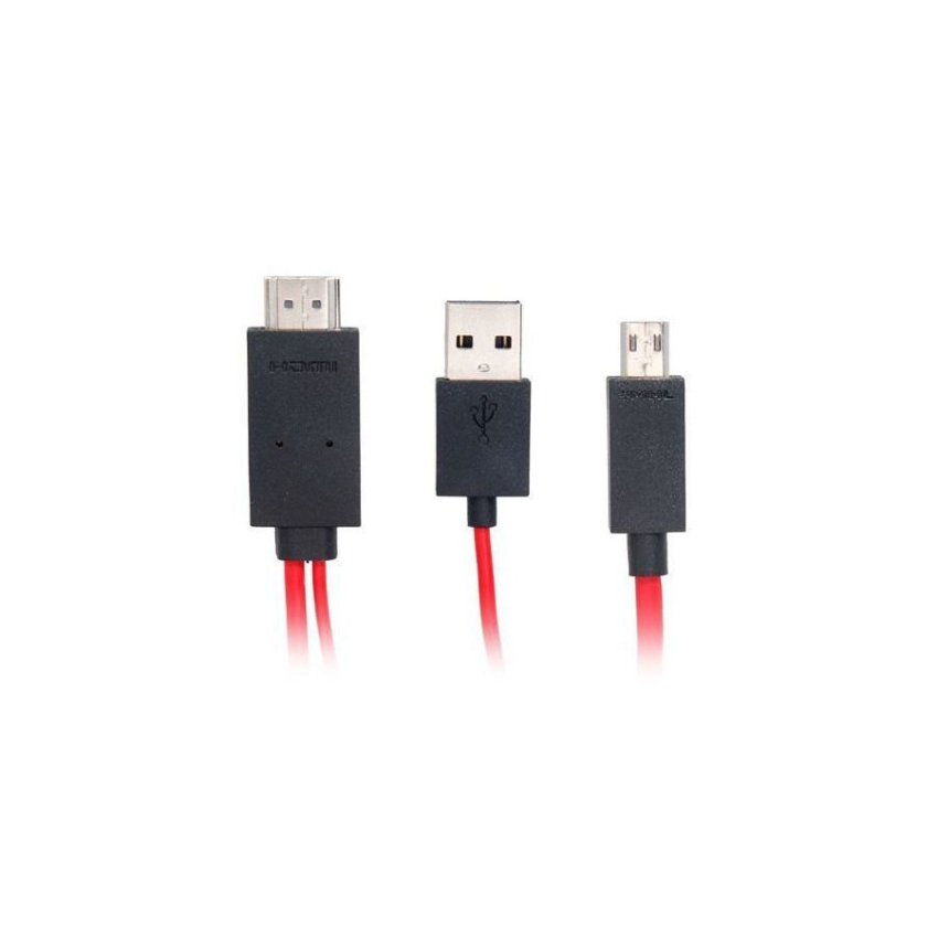 Generic Micro USB to HDTV Cable for Samsung Galaxy SIII/ S9300 (Black)