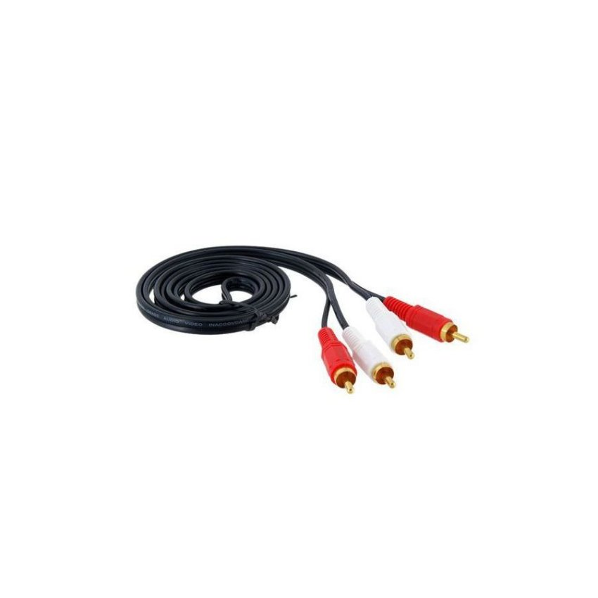 Generic MYE 1.5 m 2 RCA to 2 RCA Cable (Black)