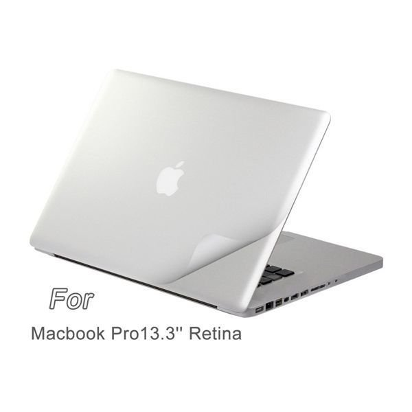Generic Protective Skin Stickers for Apple Macbook Pro Retina (Silver)