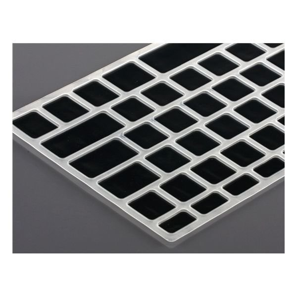 Generic Silicone Keyboard Protector with Keys for Apple Macbook Pro 13&quot Laptop (Black)