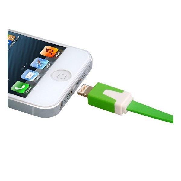 Generic USB Data Charging Cable for iPhone 5 iPod touch 5 iPod Nano 7 iPad mini/4 1.0 m Green