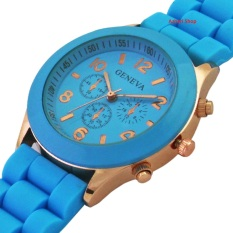 Geneva Cosmo Rubber - Jam Tangan Fashion Wanita - Rubber Strap - GV Cosmo Light Blue