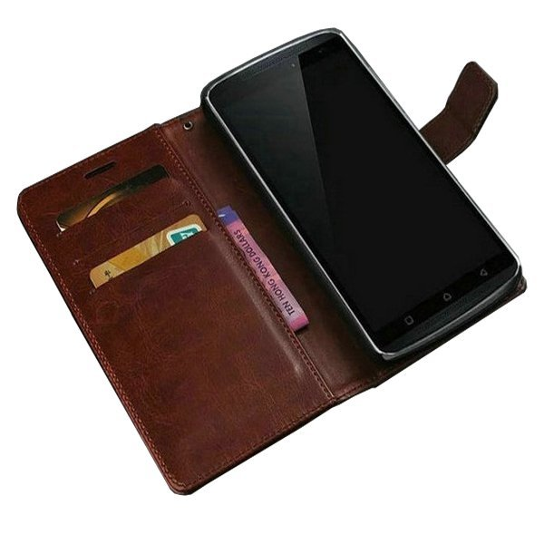 Genuine Leather Case untuk Lenovo Vibe K4 Note - Coklat