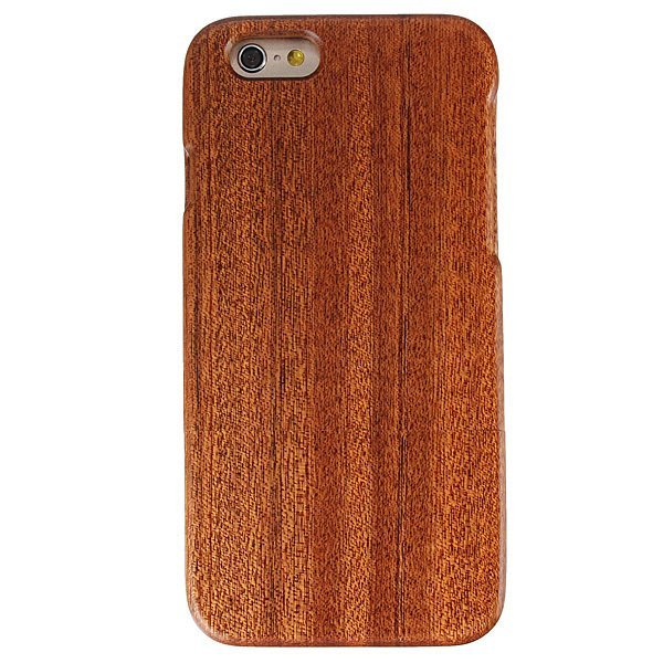 Genuine Real Natural Sapele Wooden Hard Back Case Cover for iPhone 6 4.7''