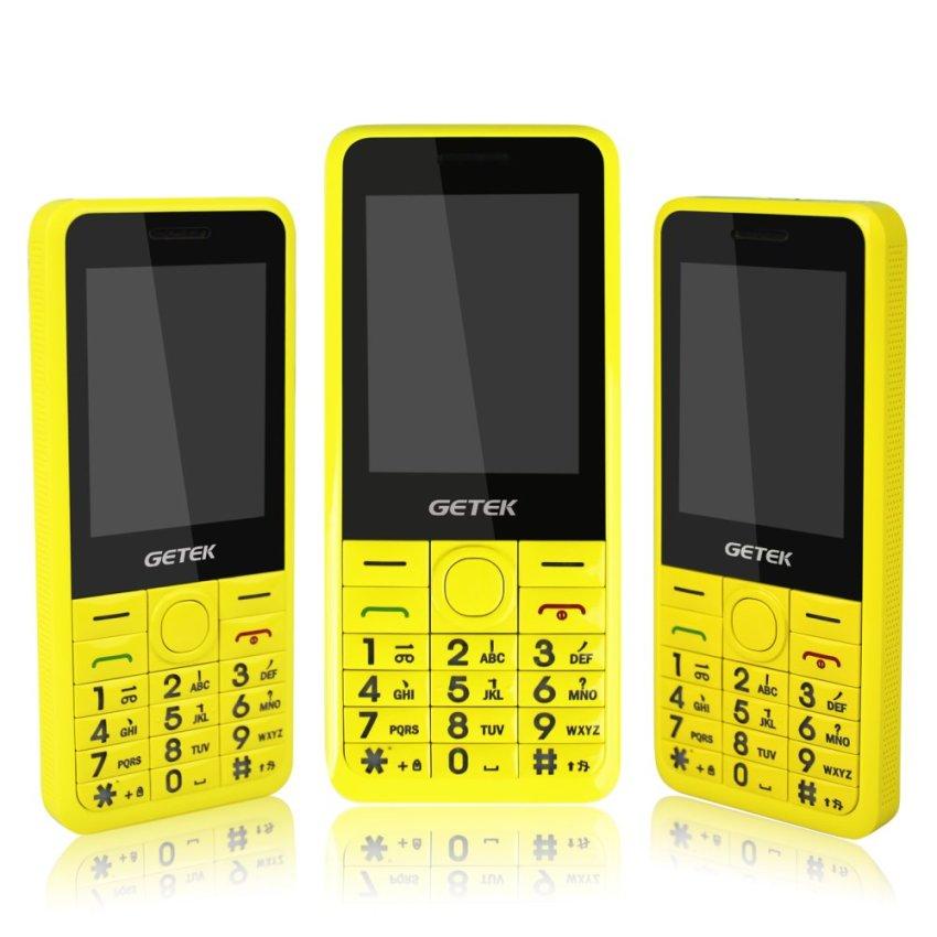 "GETEK 2.4"" GT Unlocked GSM Cell Phone Barphone Dual SIM GPRS FM Torch Camera Bluetooth (Yellow)"