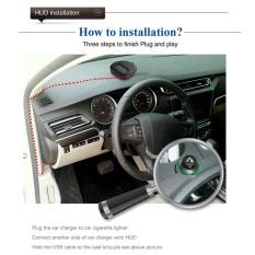 GETEK New 2 Inch GPS Head Up Display Car HUD Green LED A1 GPS Head Up Display (Black) - Intl
