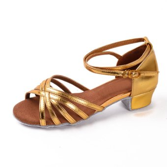 Girls latin summer ankle wrap peep toes sandals for salsa ...