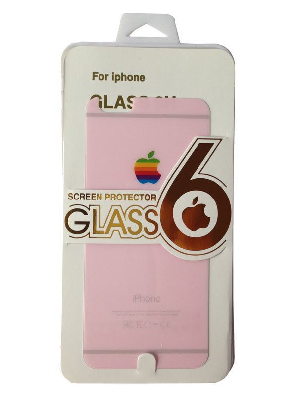 Glass Pro+ iPhone 6 Tempered Glass Screen Protector 9H + Back Screen Protector Pink