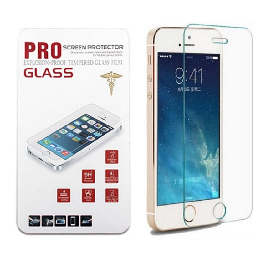 Glass Screen Protector Reduce Fingerprint Ultra Clear Screen Protectors for Apple iPhone 5 / 5S / 5C (Intl)