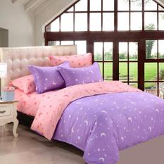 GoGoLife Two-tone Star&Moon Quilt Cover All Size-31-3# Purple