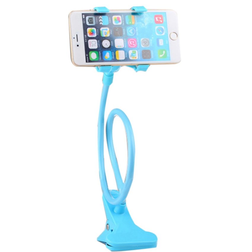 Gooseneck Mount Holder Desk Car  Clamp Clip  for  Iphone Ipod Mp3 Gps Smart Cell Phone(Blue) (Intl)
