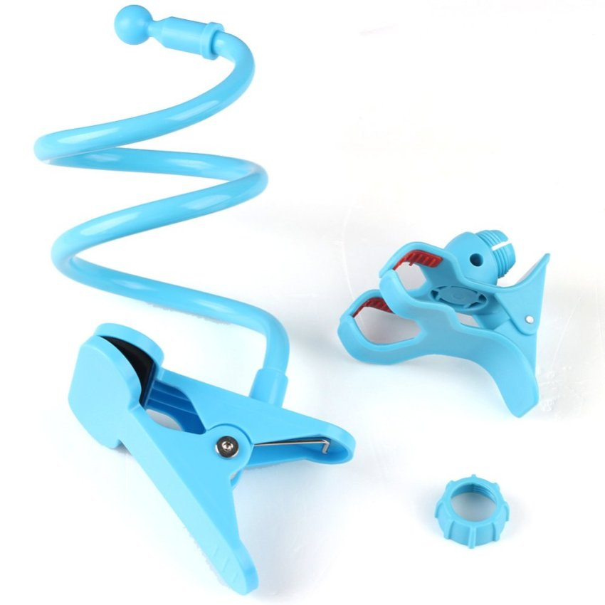 Gooseneck Mount Holder DESK Car iPhone iPod MP3 GPS Smart Cell Phone Clamp Clip (Blue) (Intl)