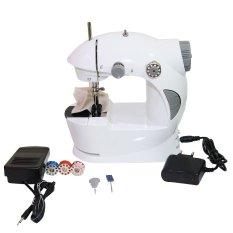 Goshop Mini Sewing Machine 4 in 1 Mesin Jahit Portable Include Adaptor - Putih