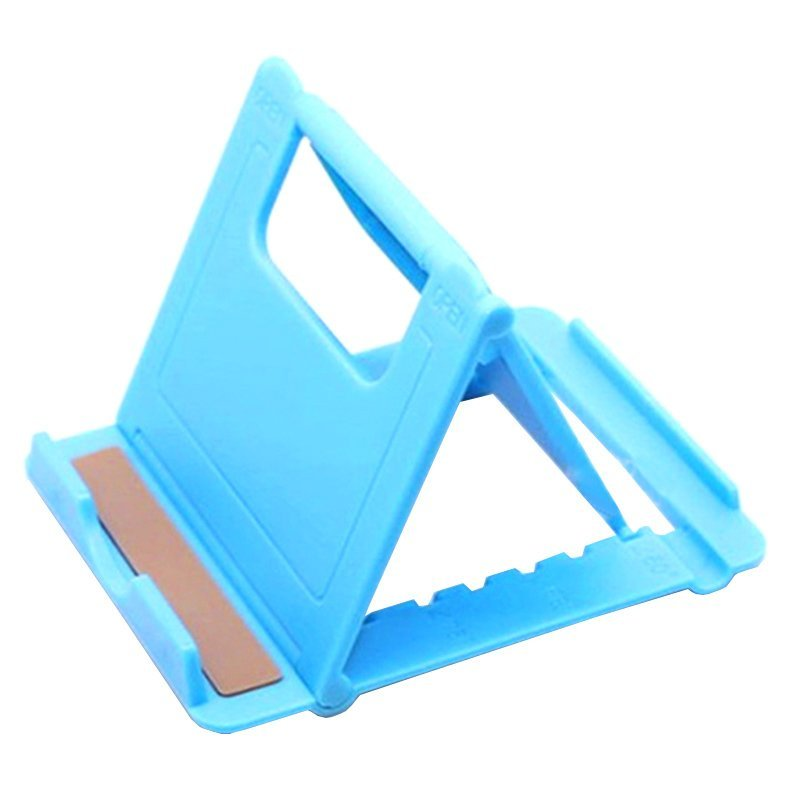 Gracefulvara Universal Foldable Desk Stand Holder Cradle for iPhone 6 Samsung Phone (Blue) (Intl)