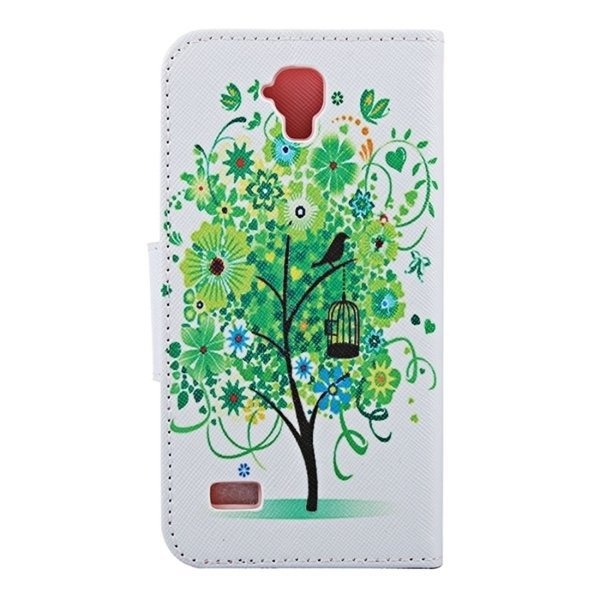Green Tree in Bloom Pattern Horizontal Flip Leather Case with Holder and Card Slots and Wallet for Huawei Y560 (Intl)