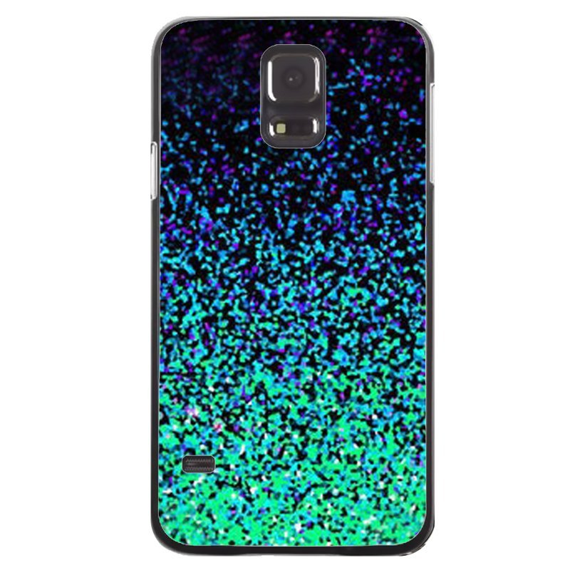 Green Twinkle Printed Phone Case for Samsung Galaxy S5 (Black)