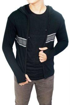 Gudang Fashion Baju Hangat Pria Rajut Hitam Lazada