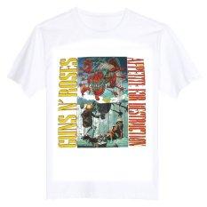 GUNS N ROSES APPETITE FOR DESTRUCTION'87 AXL ROSE SLASH 100% Cotton O Neck Camiseta Unisex Short Sleeve T Shirt - INTL