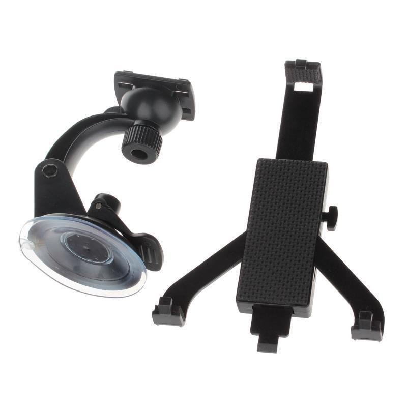 H07 360 Degree Rotation Holder Mount w/ Suction Cup + C68 Back Clamp for 7~10 Inch Tablet PC (Black)