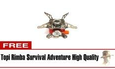 Halona - Kompor Gunung Bonus + Topi Rimba Survival/Portable Mini Gas Kaleng For Camping/Hiking/Adventure And Survival - Merah