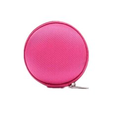 Hang-Qiao Carrying Hard Case Storage Bag Pouch For Headphone Earbud Earphone (Hotpink) (Intl)