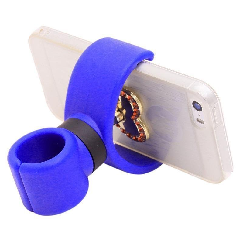 Hang-Qiao Universal 360 Degrees Bicycle Car Cell Phone Holder Air Vent Mount Stand (Blue) (Intl)