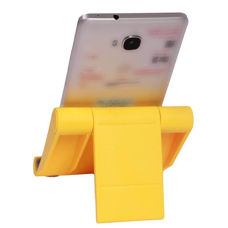 Hang-Qiao Universal Foldable Tablet Mobile Phone Holder Stand Adjustable Mount (Yellow) (Intl)