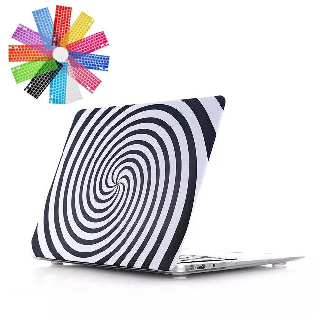 Hard PC Snap-On Back Case Cover Shell Skin Protector for Apple MacBook Air 11 inch (Vortex Pattern)