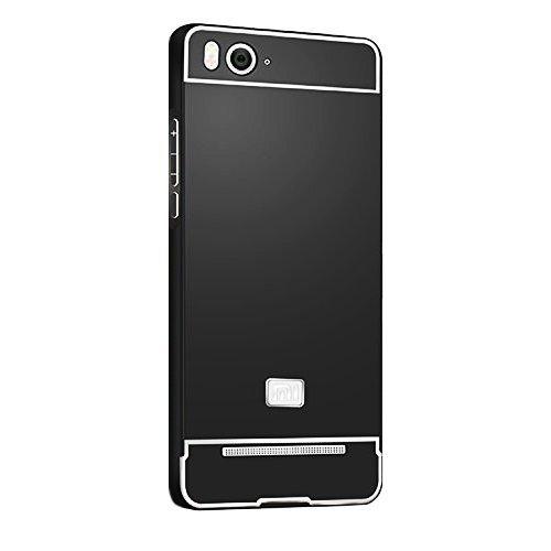 Hardcase Alumunium Bumper Case with Arcylic Back for Xiaomi Mi4i / Mi4c - Hitam
