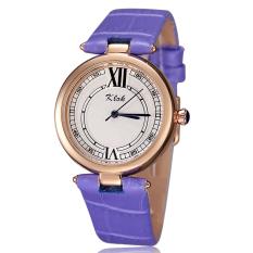 Hazyasm KLOK Authentic Women's Sports Watches, Fashion Student Waterproof Leather Belt Female Models