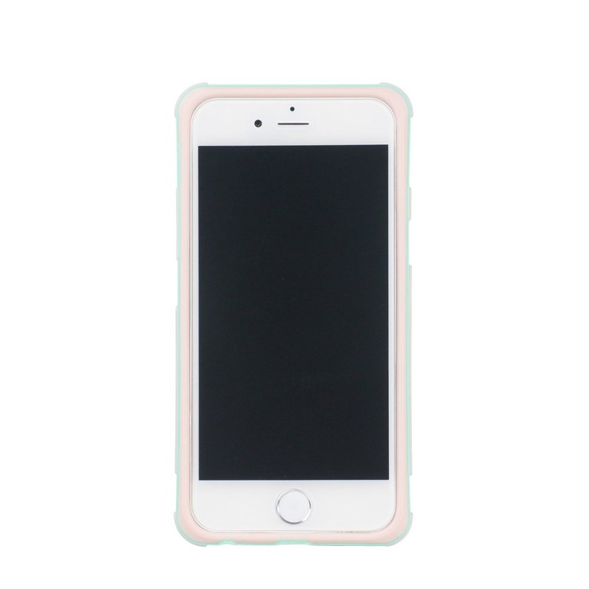 HB13 Cases TPU Double Color Border Cell phone Hit color Frame Phone shell Protective sleeve for iPhone 6 Pink