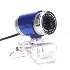HD Video Camera Webcam with Mic Microphone For PC Laptop Computer Blue
