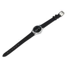 HDL Classic Mans Quartz Electronic Analog Leather Strip Wrist Watch Black - Intl