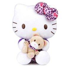 Hello Kitty Boneka Hello Kitty Leopard Ungu 30 cm Sanrio Original