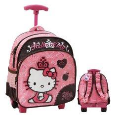 Hello Kitty Original Toddler Trolley Bag – SRHK 194057 Ukuran Anak Sekolah Play Group - Pink