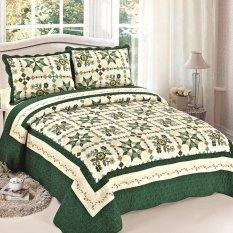 Hequ 3pcs Sets Quilts 225*245cm Cotton Comforter Pillow Cases Bedclothes Home Textiles (Multicolor) (Intl)