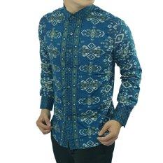 Herman Batik Baju B9010 Kemeja Batik Pria Slimfit Fashion Jeans